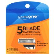CareOne Men's Disposable 5 Blade Cartridges Refill