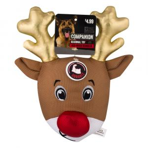 Companion Red Nose Reindeer Dog Toy
