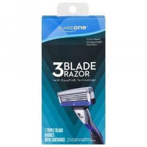 CareOne Men's 3-Blade Razor w/EasyFit Technology