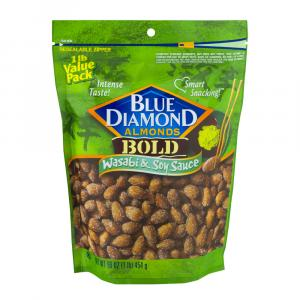 Blue Diamond Bold Wasabi & Soy Sauce Almonds