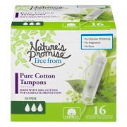 Nature's Promise Free From Pure Cotton Super Tampons