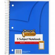 Smart Living 5 Subject Notebook Wide Ruled