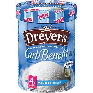 Edy's Carb Benefit Vanilla Bean Ice Cream