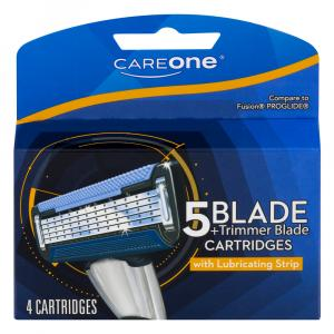CareOne Men's 5-Blade Trim Razor Cartridges
