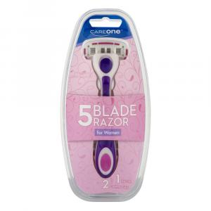 CareOne Women's 5-Blade Razor with 2 Cartridges