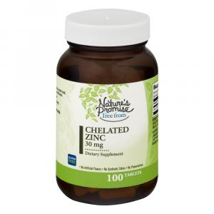 Nature's Promise Chelated Zinc 30 Mg Dietary Supplement