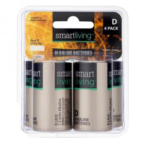 Smart Living D Alkaline Batteries