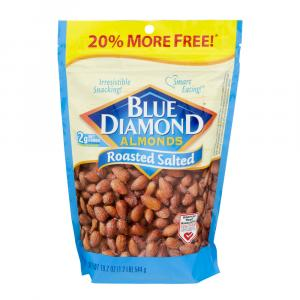 Blue Diamond Roasted Salted Almonds Bonus Bag