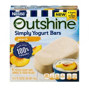 Nestle Outshine Peach Simply Yogurt Bars