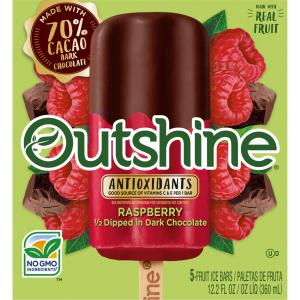 Outshine Half Dipped in Dark Chocolate Raspberry