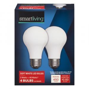 Smart Living 5w Soft White LED Bulbs