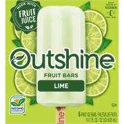 Nestle Outshine Lime Fruit Bars