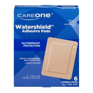 "CareOne Tan Watershield ADH Pads 3"" x 4"""