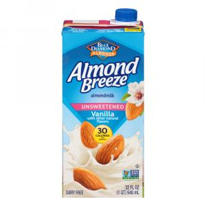 Blue Diamond Almond Breeze Unsweetened Vanilla Almondmilk