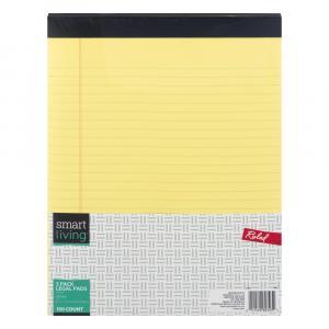 Smart Living Legal Pad Yellow
