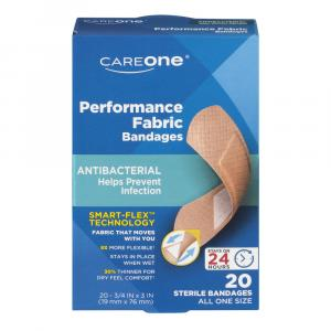 CareOne Antibacterial Performance Fabric Bandages