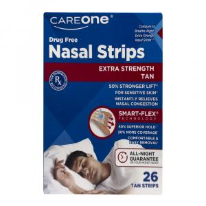 CareOne Extra Strength Nasal Strips Tan