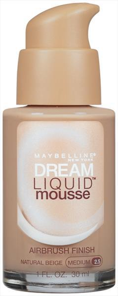 Maybelline Foundation Dream Liquid Mousse Natural Beige