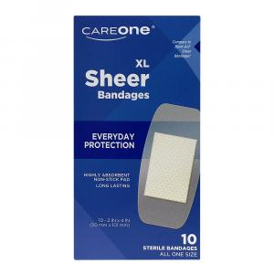 Careone Sheer Extra Large Adhesive Bandages
