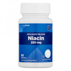 CareOne Prolonged Release Niacin 250mg Vitamin Supplement