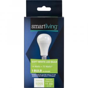 Smart Living LED 14w (75w Equivalent) Soft White Bulb