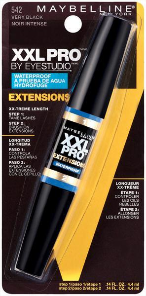 Maybelline XXL Pro Extensions WP Mascara - Very Black