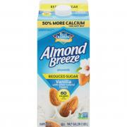 Blue Diamond Almond Breeze Reduced Sugar Vanilla Almond Milk