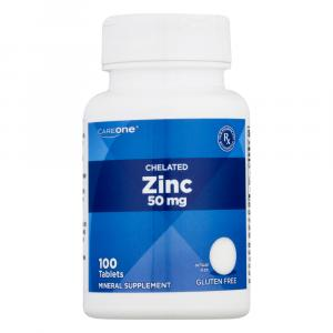CareOne Chelated Zinc 50 mg Tablets