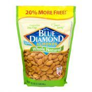 Blue Diamond Whole Natural Almonds 20% More Free
