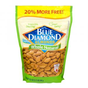 Blue Diamond Whole Natural Almonds 20% More Free