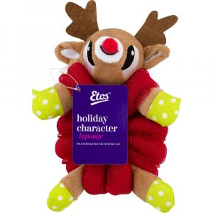 Etos Red Rudolph Character Sponge Pouf