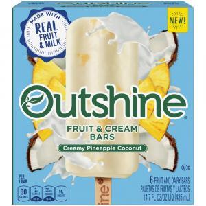Nestle Outshine Fruit & Cream Bars Creamy Pineapple Coconut