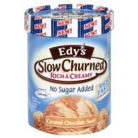 Edy's No Sugar Added Chocolate Caramel Swirl Ice Cream
