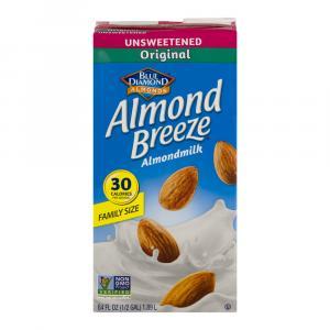 Blue Diamond Almond Breeze Unsweetened Original Almondmilk