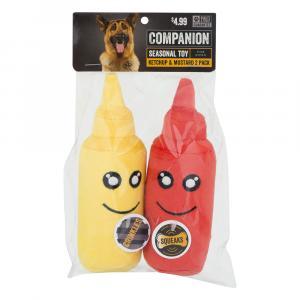 Companion Ketchup & Mustard Dog Toy