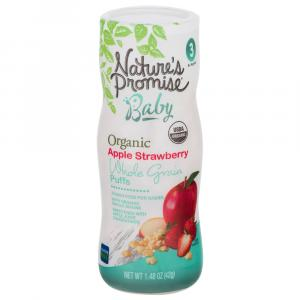 Nature's Promise Organic Apple Strawberry Whole Grain Puffs