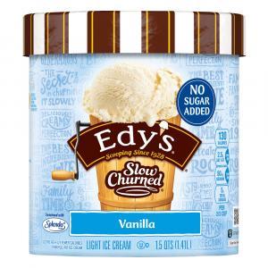 Edy's No Sugar Added Light Vanilla Ice Cream