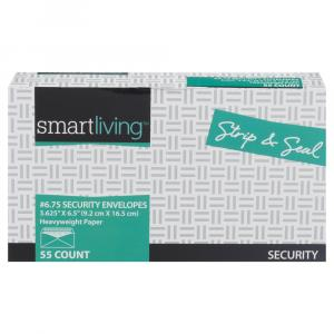 "Smart Living 6"" Security Strip & Seal Envelopes"