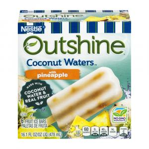 Nestle Outshine Coconut Waters With Pineapple Fruit Bars