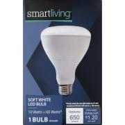 Smart Living LED 10w (65w Equivalent) Soft White Bulb