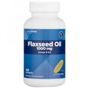 CareOne Flaxseed Oil 1000 mg Omega 3-6-9 Softgels