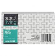 Smart Living Index Cards 3 X 5 White Plain
