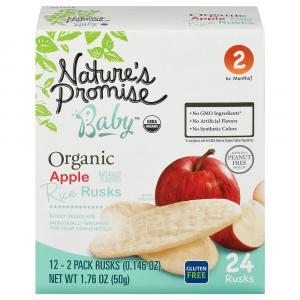 Nature's Promise Organic Apple Rice Rusks