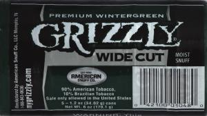 Grizzly Wide Cut Wintergreen
