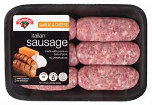 Hannaford Garlic & Cheese Sausage