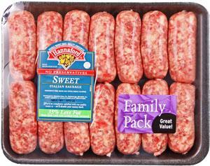 Hannaford Sweet Italian Sausage
