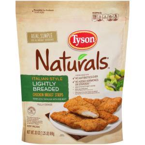 Tyson Naturals Italian Style Lightly Breaded Chicken Strips