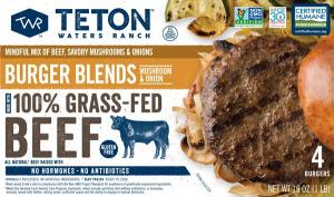 Teton Waters Ranch Mushroom & Onions Blend Burger