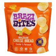 Brazi Bites Brazilian Cheese Bread Cheddar & Parmesan
