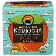 Aqua Vitea Organic Kombucha Peach Out